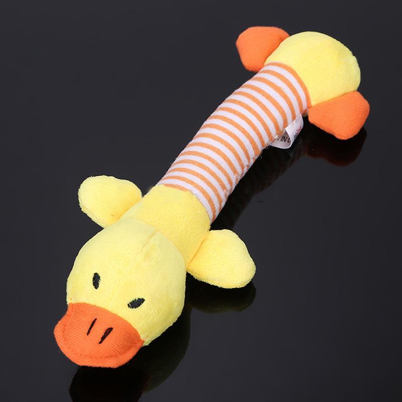 Juguetes para perros mascotas cachorro Chew Squeaker Squeaky Plush Sound Duck Pi