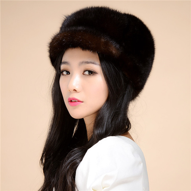 New Arrival 2016 Mink Fur Hat Winter And Autnmn Warm Hat Cap Thick Winter Free Shipping /2Color.#SD3