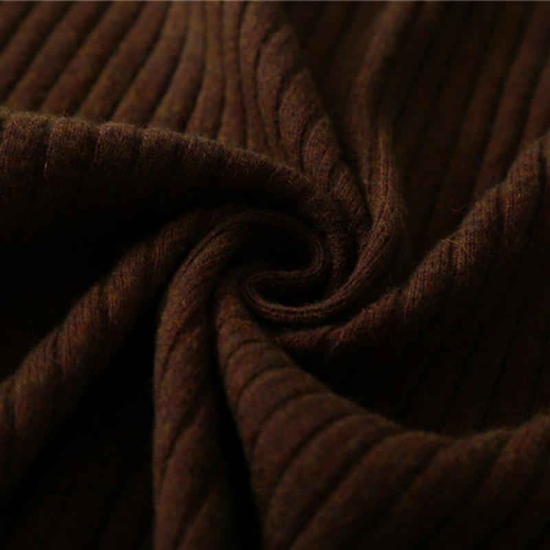 Cintura Las Blend Sexy Para Invierno Navy Slim Sólido brown Cashmere Mujeres Jupe Faldas Casual Largas Lápiz Alta Qingteng Estiramiento xAYPBqSA