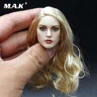 1/6 Escala Headplay Cabeça Esculpir Beleza Menina Europeu Feminino Para 12 polegadas PH Jiaodol TTL Figura de Ação