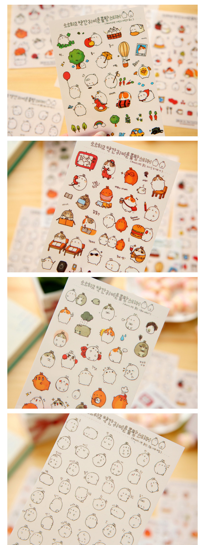 6 Sheetsset Waterproof Diy Notebook Diary Transparent Stickers Cute