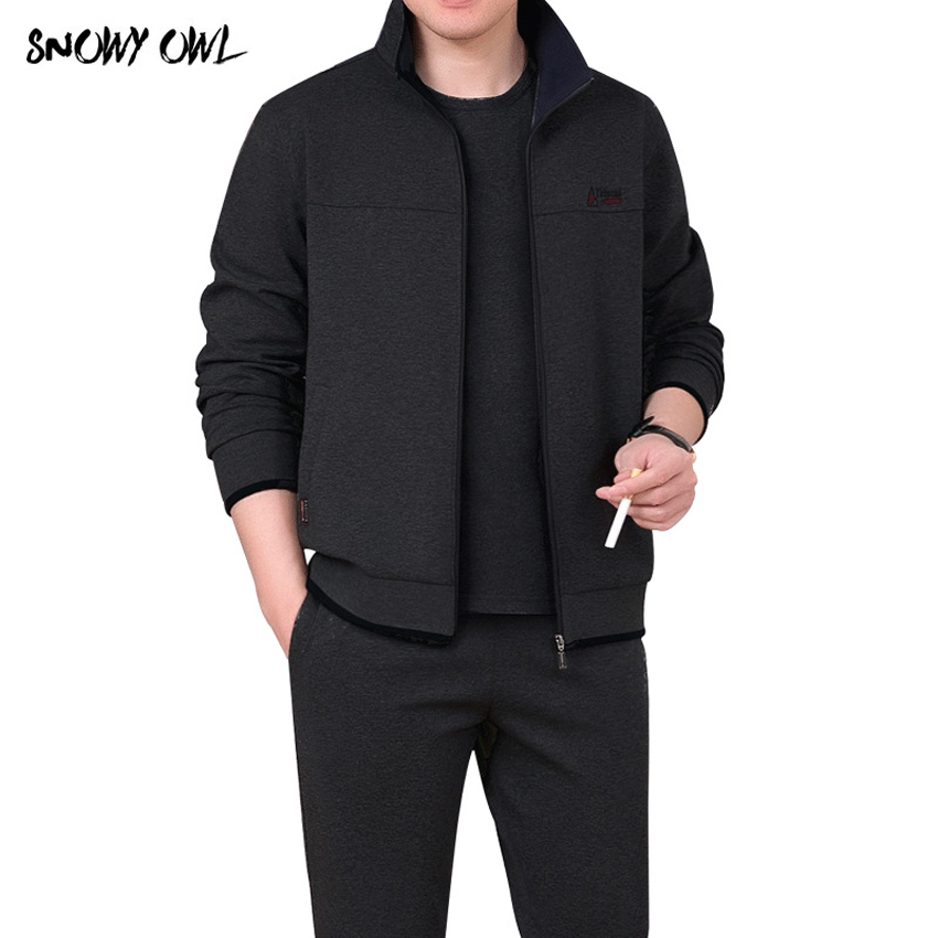 Tracksuit Men Spring Autumn Men Sportswear 3 Piece Set Sporting Suit Jacket+Pant +Tshirt Sweatsuit Men Clothing Tracksuit h185 tracksuit
