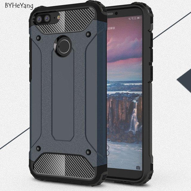 BYHeYang For Coque Huawei Honor 9 Lite Case Silicone Shockproof Slim Hard Tough Rubber Armor Cases for Huawei Honor 9 Lite Cover