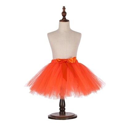 Милые пышные мягкие фатиновые юбки-пачки для малышей; юбка-американка для дня рождения для новорожденных; юбки-пачки для девочек; детские юбки-пачки; одежда для малышей - Цвет: Оранжевый