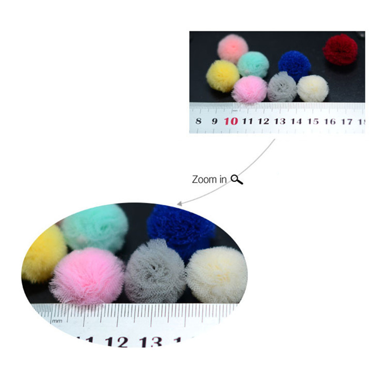 8pcs Lot Mesh Yarn Ball Bady Shower for DIY Children 39 s Earring Decoration Pendants Material Hair Clips Ornaments Accessories in Party DIY Decorations from Home amp Garden
