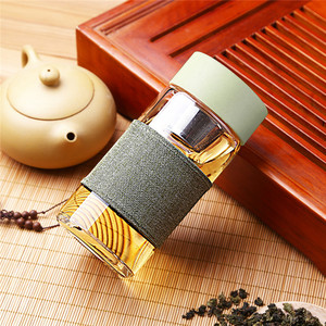 Glass Water Bottle With Tea In