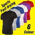 Новое поступление мужчин бодибилдинг с коротким рукавом о шеи мужчин , работающих из тенниски высокое качество сжатия мужчины рубашки