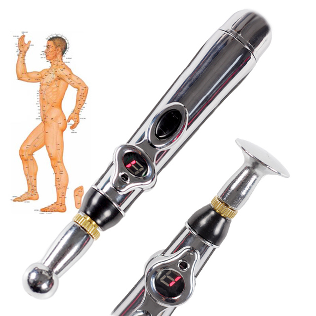 Electronic acupuncture Massage pen Electric meridians Laser Acupuncture Magnet Therapy instrument Pain Relief massager
