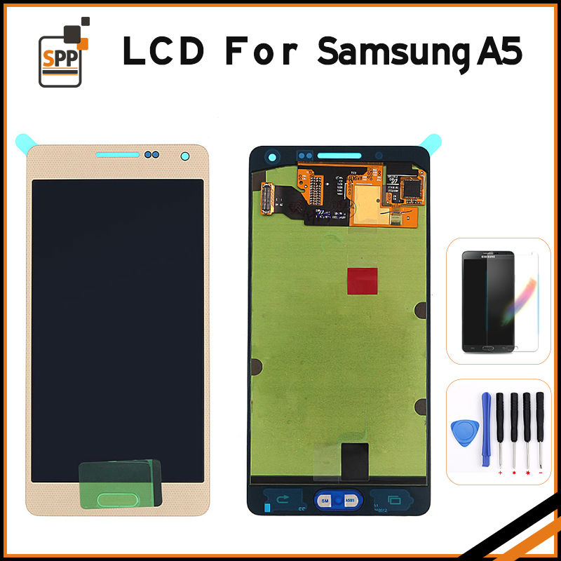 100% Orignal new LCD display for Samsung Galaxy A5 2015 A500 A500F A500M AMOLED screen touch digitizer GORILLA glass assembly
