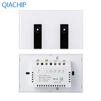 US Plug WiFi Light Switch 2 Gang Wall Light Switch APP Remote Control Switch Interruptor Touch