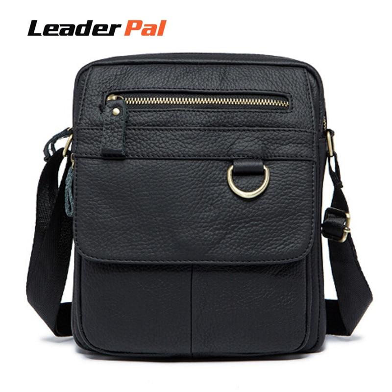 ФОТО New Arrivel 2016 Brand 100% Genuine Leather Men Bags Small Men Messenger Bags Casual Business Crossbody Shoulder Bag Men 8088