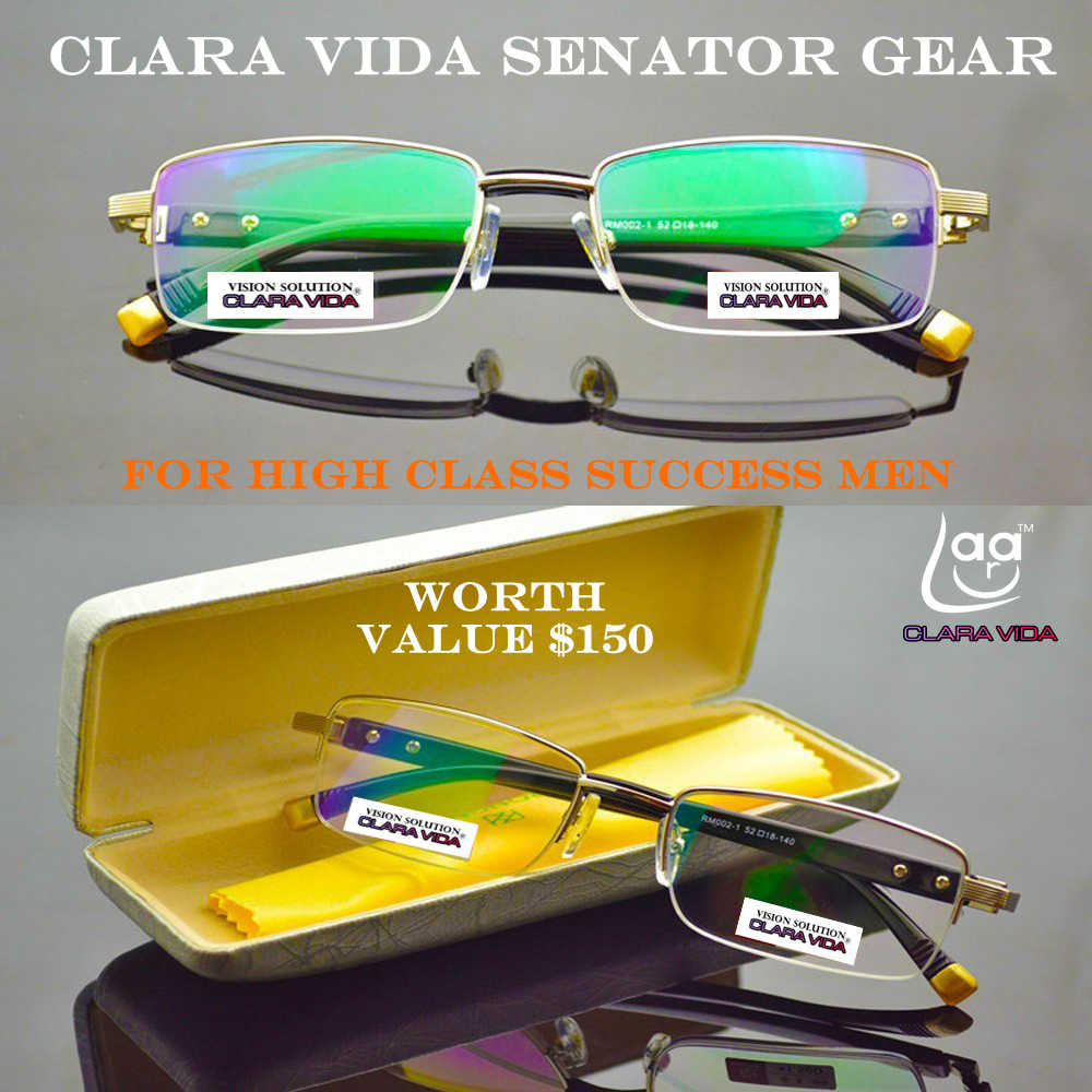 2019 Claravida Men Titanium Senator Antireflective Coated Aspherical Briller Reading Glasses+1.0 +1.5 +2.0 +2.5 +3.0 +3.5+4.0