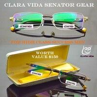 2019 кларавида мужские титановые сенаторы с антибликовым покрытием Асферические Briller очки для чтения + 1,0 + 1,5 + 2,0 + 2,5 + 3,0 + 3,5 + 4,0