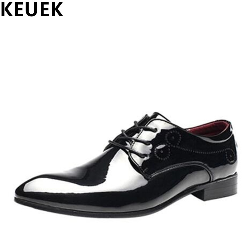 Large Size Wedding Shoes British Business Casual Leather Shoes Men Flats Breathable Slip Resistant Moccasins 021