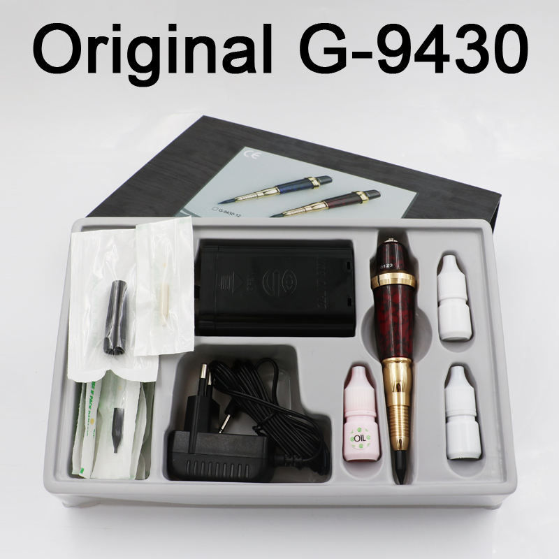 цена на Professional Taiwan G-9430-13 Eyebrow Tattoo Machine Pen For Permanent Makeup Basic Eyebrows Forever MAKE UP kit With Tattoo ink