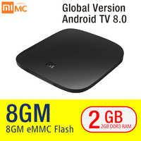 Original Xiaomi Mi TV Box 3 Smart 4K Ultra HD 2G 8G Android 8.0 Movie WiFi Google Cast Netflix Red Bull Media Player Set-top Box