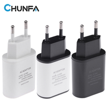 New EU Plug USB Charger 5V 2A Safe Fast Charging USB Adapter Europe Travel Speed Wall Charger for iPhone 5 6 6S Plus for Samsung