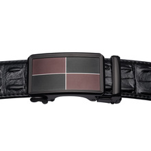 Luxury Crocodile Pattern Leather Belt For Men