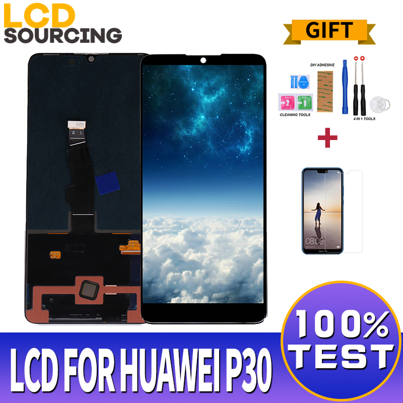 6.1 inch <font><b>LCD</b></font> Display For Huawei <font><b>P30</b></font> <font><b>LCD</b></font> Touch Screen Digitizer Assembly with Frame For Huawei <font><b>P30</b></font> Display Replace 1080 x 2340 image