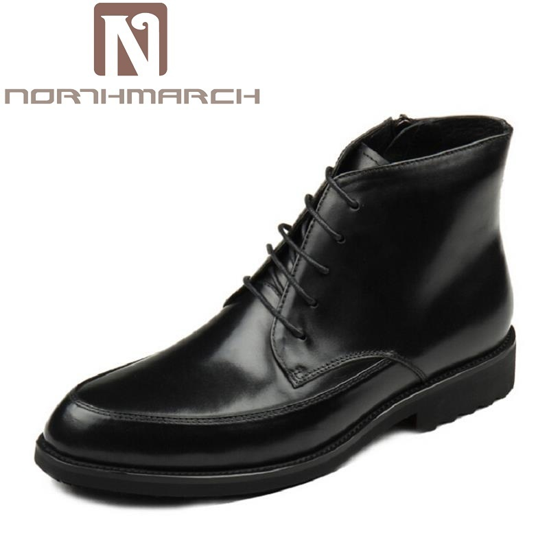 NORTHMARCH Autumn Winter Men Boots New Fashion British Style Men Shoes Casual Fashion High-Cut Lace-Up Leather Boot Chaussure 2016 new autumn winter man casual shoes sport male leisure chaussure laced up basket shoes for adults black