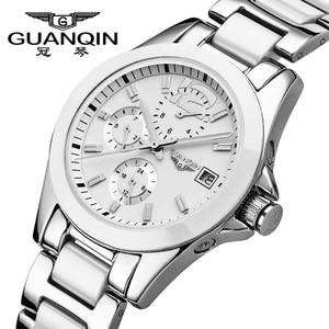 Image 1 - GUANQIN ผู้หญิงนาฬิกา Hardlex นาฬิกาแบรนด์หรูนาฬิกาเซรามิคผู้หญิงนาฬิกากันน้ำชุดนาฬิกาผู้หญิง 2019