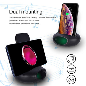 Image 5 - Protefeuille Qi kablosuz şarj makinesi 15W standı Samsung Galaxy S10 S9 artı not 10 Xiaomi mi9 mix 2s Chargeur indüksiyon