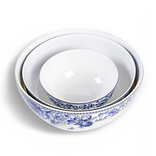 Jingdezhen 4.5-inch anti-hot bowl rice bowl 6 inch creative instant noodles bowl bone china bowl blue and white porcelain glaze 5 6 8 inch japanese cherry blossom ceramic ramen bowl large instant noodle rice soup salad bowl container porcelain tableware