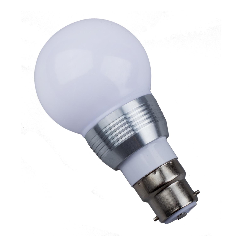 CSS B22 3W 16 Colors Changing RGB LED Mood Spot Light Lamp Bulb + IR Remote Control