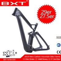 carbon fiber Suspension frame 29er/27.5er mountain bike frame matte/glossy 148*12 MTB bicycle frame 15.5/17.5/19/21inch