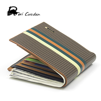 DERI CUZDAN Designer Famous Men S Wallets Italian Leather Striped Large Capacity Wallet Men Fold Money
