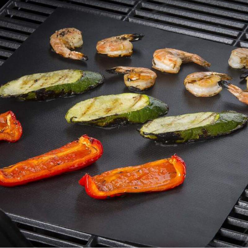 BBQ Mat Replaces Vegetable Grill Mesh Tray Nonstick Cooking Sheet Barbecue Tool