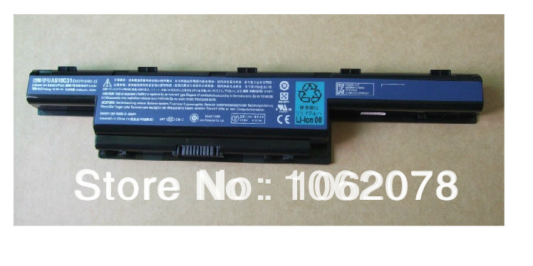 10400mAh Laptop Battery for Acer Aspire 4250 4251 4551 4552 4738 4741 5253 5336 5560 5750 7251 7551 7560 7750 AS10D31 AS10D51