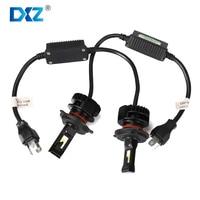DXZ Car Headlight H4 LED2 Bulbs A Set For Seoul Chip H13 9004 9007 Car Styling