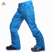 New Ski Pant Men Snowboard Pant 2016 Skiing Trousers Waterproof Thermal Snow Trousers Thicken Breathable Winter