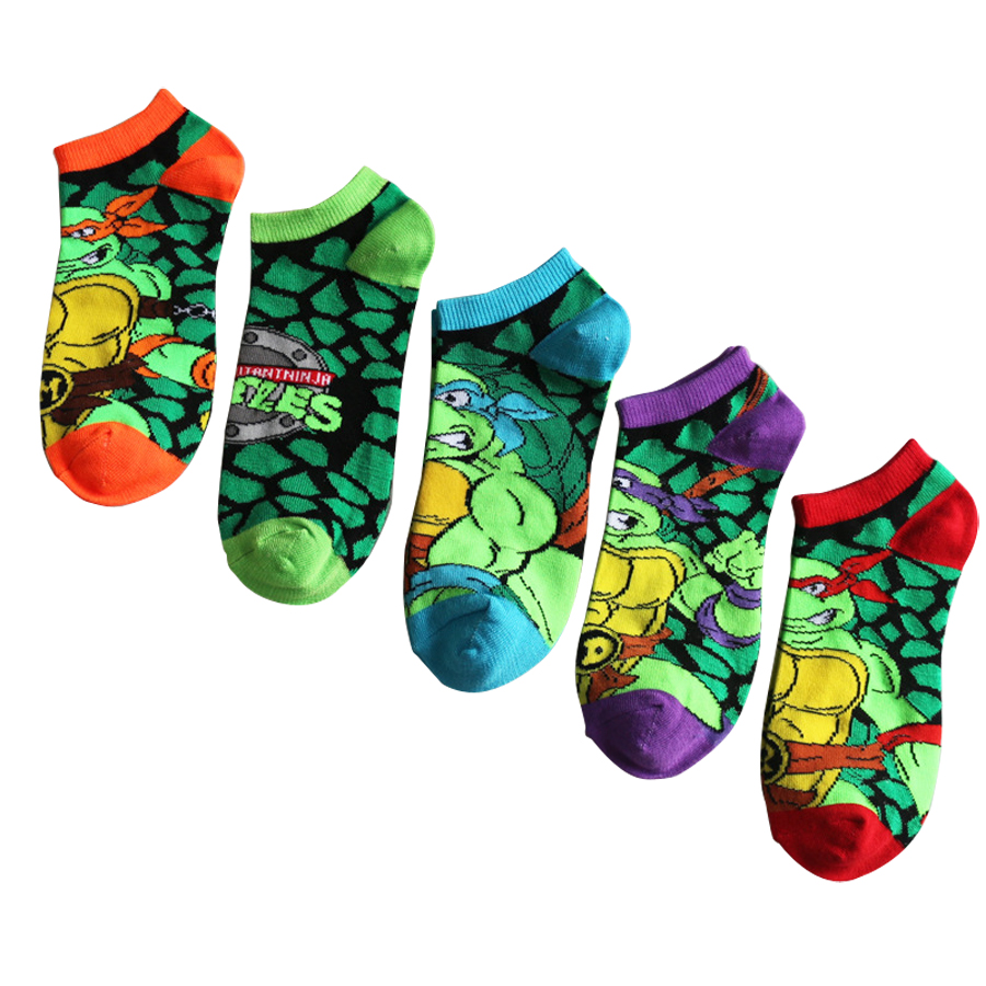 12 Pairs Socks Cotton Standard Casual Mens Socks Cartoon Series of Men and Women Stealth Ship Socks For Male