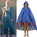 Film Game of Thrones Daenerys Targaryen Cosplay Costume Blue Dress Cloak A Song of Ice and Fire Movie Cosplay Superstar Town