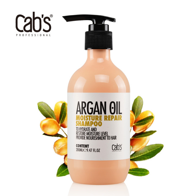 8b509ab02725b8 Cab s Argan Oil Moisture Repair Shampoo 280ml natural argan oil shampoo  hair treatment Free Shipping