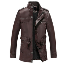 Mens Leather Jacket 2019 Men's Fashion Winter Warm PU Leather Jacke Coat Men Casual Vintage Windbreaker Outerwear Male Clothes new artificial leather motorcycle jacket autumn winter pu male faux leather jacket men casual pockets thick warm mens jacke