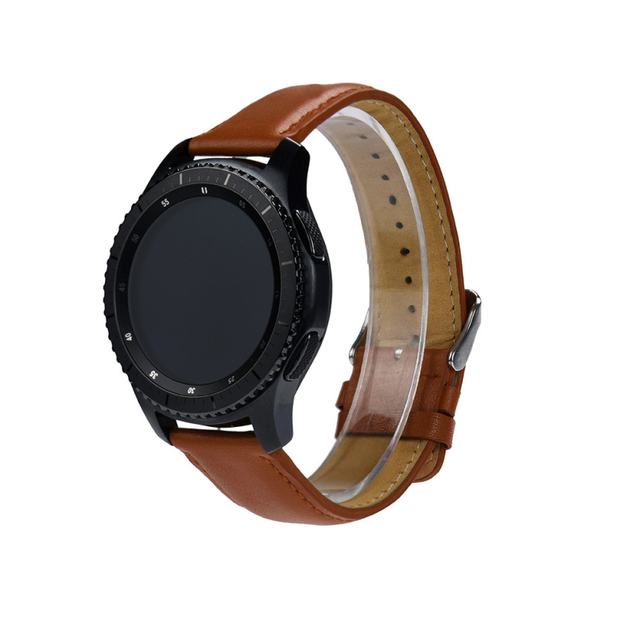 Llegan nuevos 2018 de repuesto reloj de cuero de la pulsera de la correa de banda para Samsung Gear S3 frontera c904