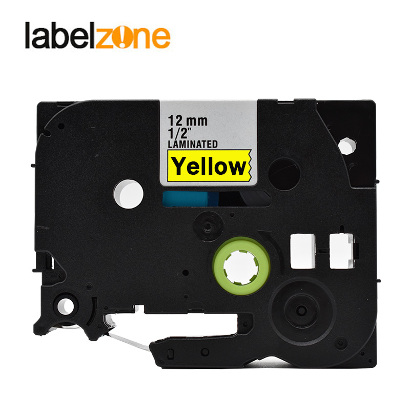 12mm Black On Yellow Tze631 Laminated Label Tape Compatible Brother P-touch Label Printers Tze-631 Tze 631 Tz631 Tz-631 Tze Tape