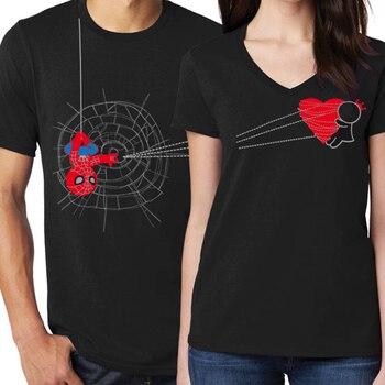 Camisetas blancas de la ropa de la pareja 2019, camiseta de las mujeres de la muchacha de San Valentín, camisetas lindas de la mujer de talla grande, camiseta impresa