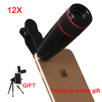 12X Telephoto Lens Zoom Telescope Mobile Phone Camera Lens Optical Lenses With Universal Clip For IPhone