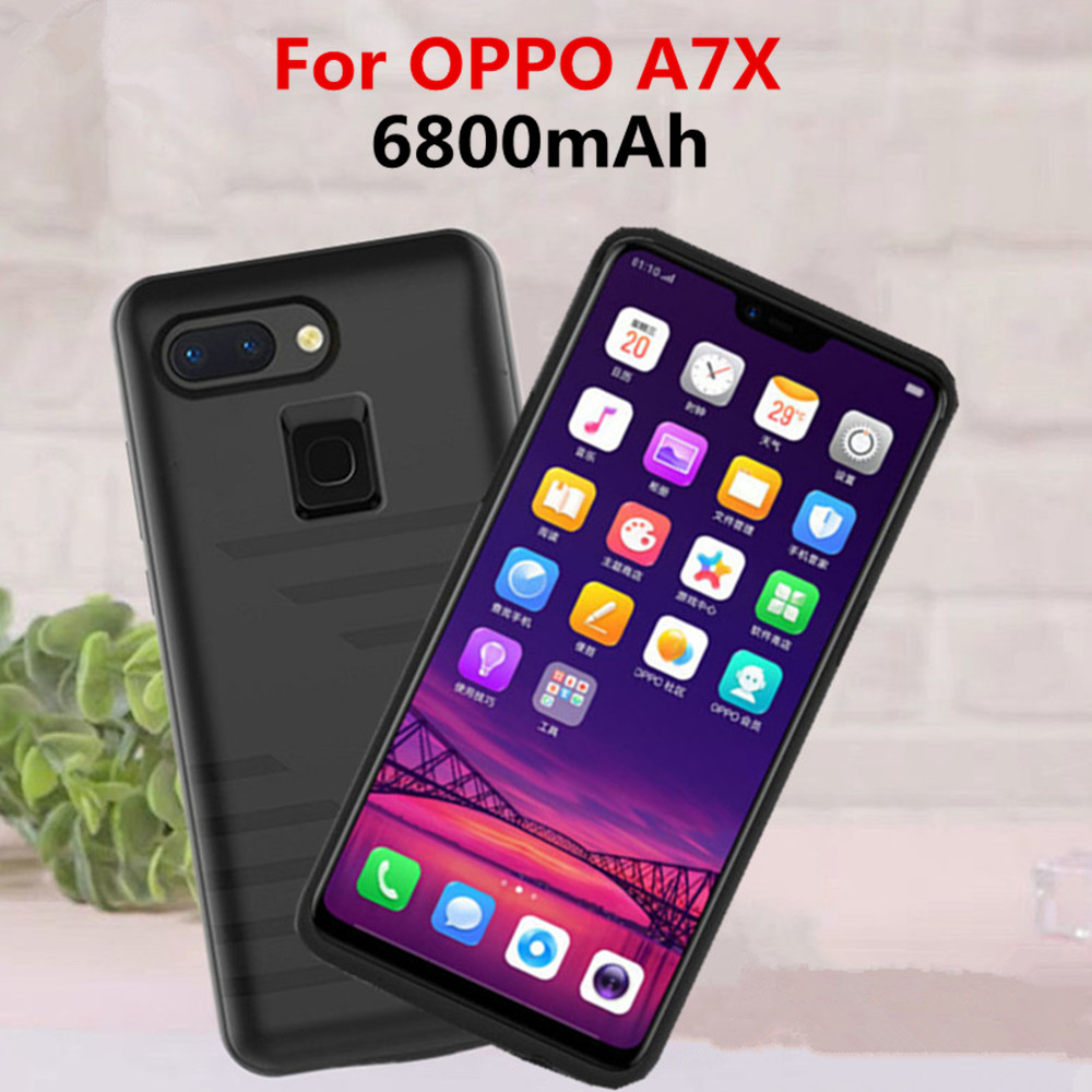 NTSPACE Battery Charger Cases For OPPO A7X Power Bank Case 6800mAh Ultra Slim Portable Rechargeable