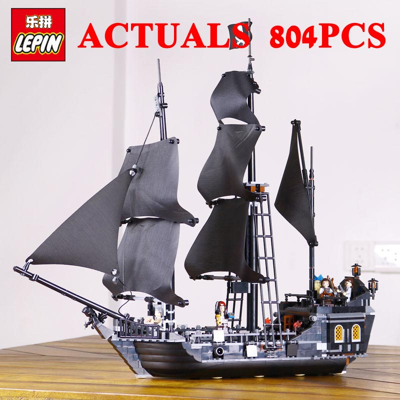 NEW LEPIN Pirates of the Caribbe Ship Toys 16006 The Black Pearl 16009 Caribbean Queen Anne's revenge Pirates 16018 Ghost Pirate lepin 16009 caribbean blackbeard queen anne s revenge mini bricks set sale pirates of the building blocks toys for kids gift