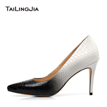 цена Women Elegant High Heel Pumps Pointed Toe Office Lady Heeled Shoes Patent Leather Stiletto Heels Mid Heel Court Shoes Big Size онлайн в 2017 году