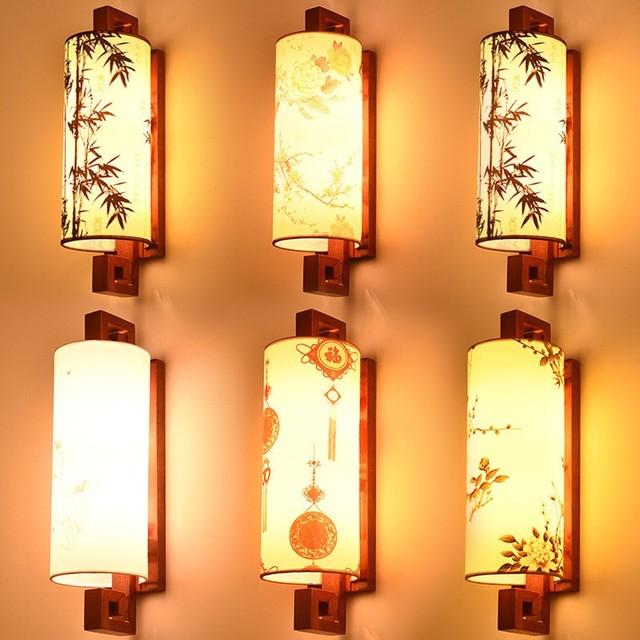 Chinese muur lampen trappen gangen antieke houten slaapkamer ...