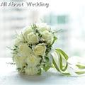 Свадебный Букет Высокое Качество Кот Роуз Бросьте 18 цветы Свадебный Букет