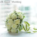 Bridal Bouquet High Quality Ivory Rose Throw 18 flowers Wedding Bouquet
