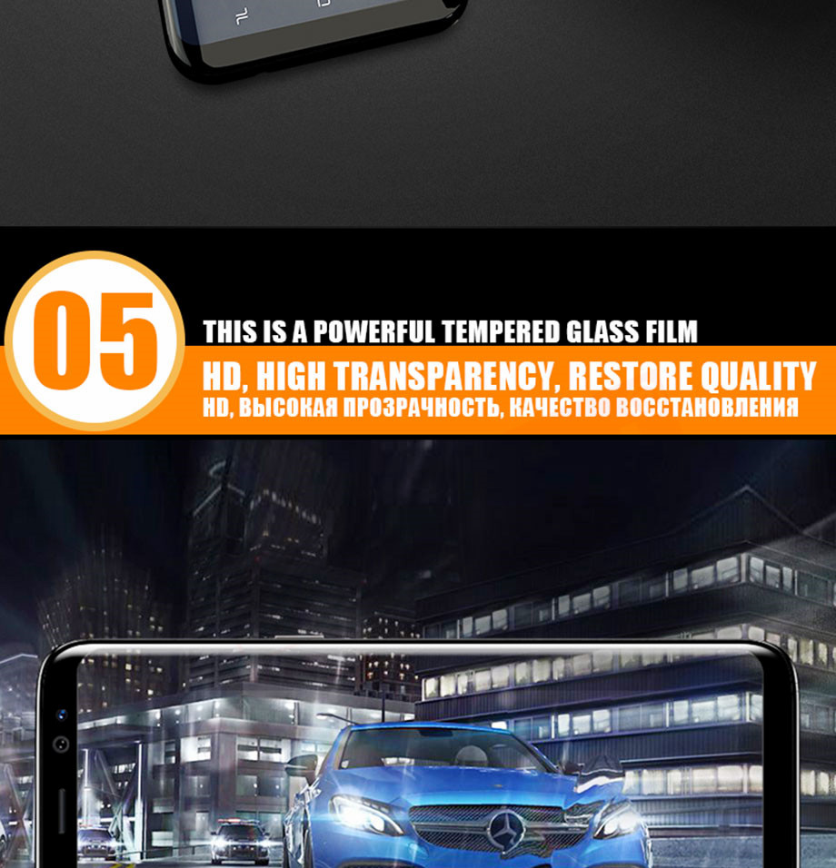9-PC-For Samsung Galaxy S8 Tempered Glass