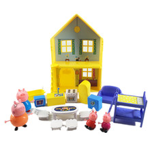 Peppa Pig Toys House Doll Family Gathering Model Action Figures Family Member Early Learning Educational Toys for Children gift peppa pig toys doll train car house scene building blocks action figures toys early learning educational toys birthday gift